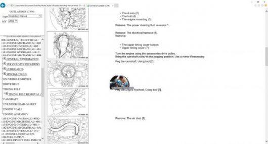 MANUAL DE TALLER/REPARACION MITSUBISHI OUTLANDER GT 2010