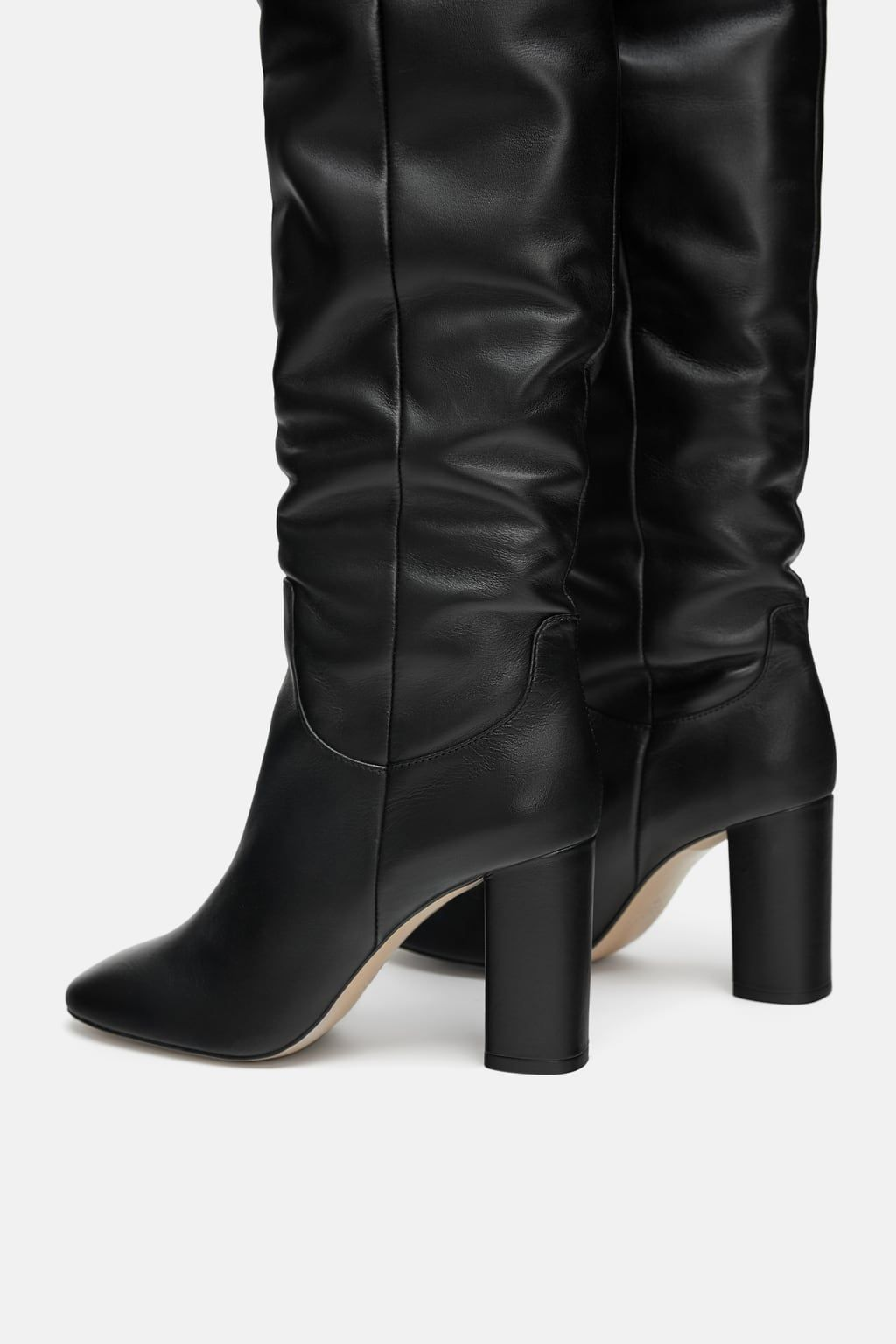 9b77041e2e5 Image 8 of HIGH HEELED LEATHER BOOTS from Zara