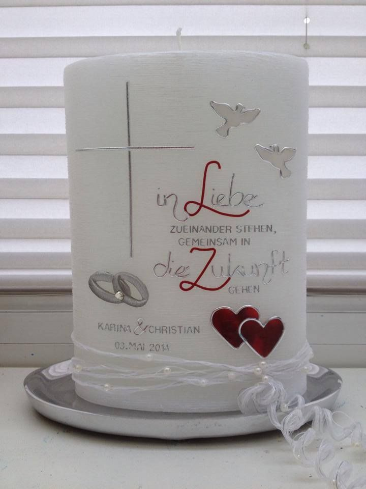Hochzeitskerze Spruch Satiniert Kerze Pinterest Wedding