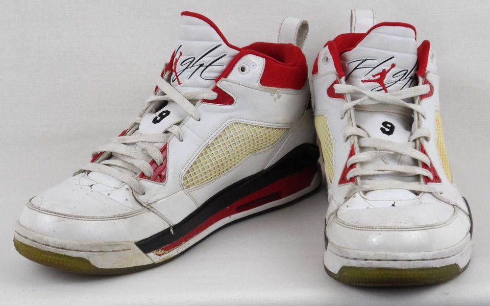 newest 706b7 297ec Nike Air Jordan Flight 395553 103 #9 US Mens 13 White Red Black Basketball # Nike #AthleticSneakers