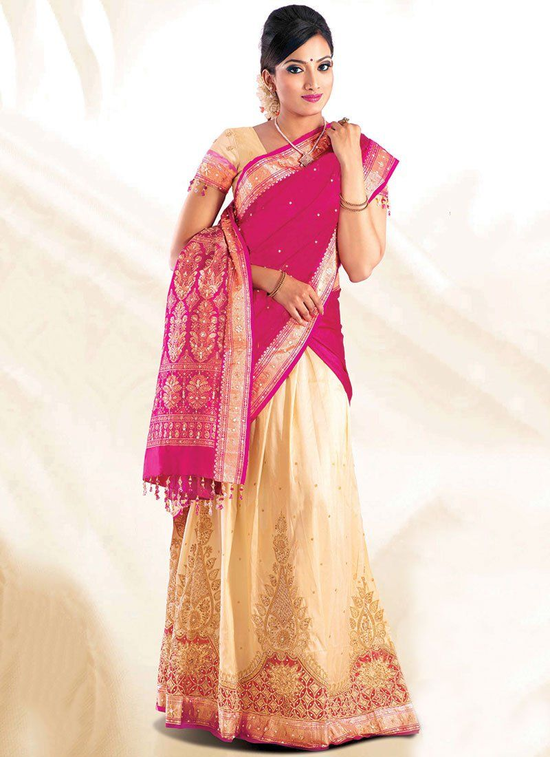 Alluring pure #silk half #saree | For My Sweet ❤ | Pinterest