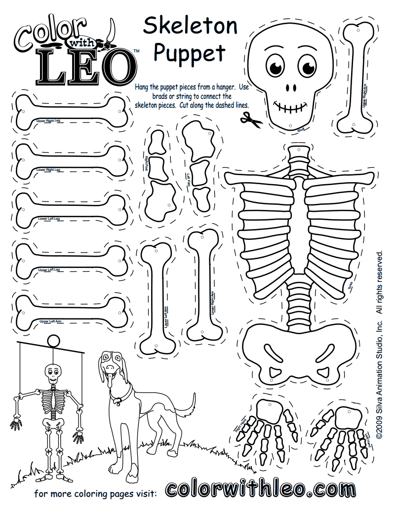 CPG0060-SkeletonPuppet.pdf | Helps for Learning | Pinterest | Schule ...