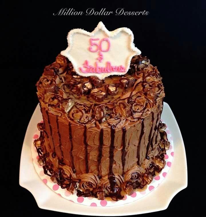 50 & Fabulous Snickers Cake ~Million Dollar Desserts