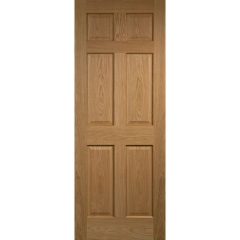 Colonial 6 Panel Oak Veneer Interior Door Eut Materials