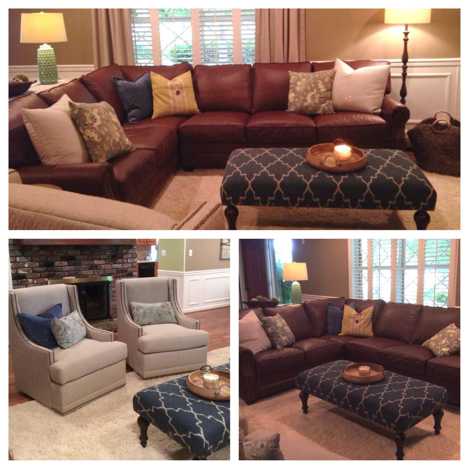 Another Fabulous Customer Custom Order. Love The Comfort Design Camelot  Leather Sectional, Clayton Marcus