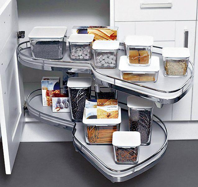 Meuble Dangle SAGNE Cuisines Organisation Rangement - Plateau tournant meuble cuisine pour idees de deco de cuisine