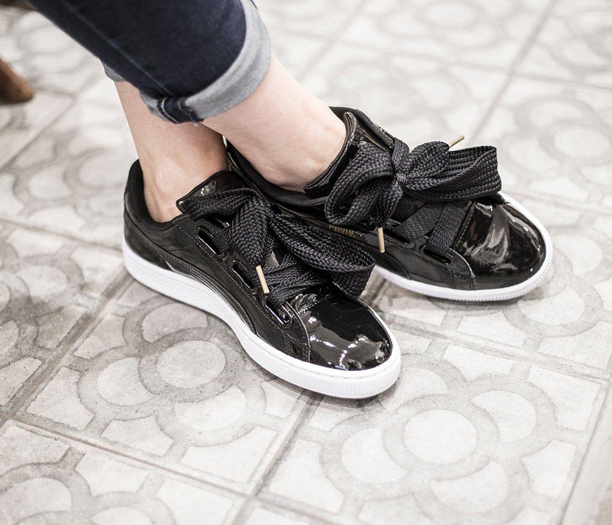 puma 363073 basket heart patent black idenza aw16 17 puma idenza new shoes black sneaker. Black Bedroom Furniture Sets. Home Design Ideas