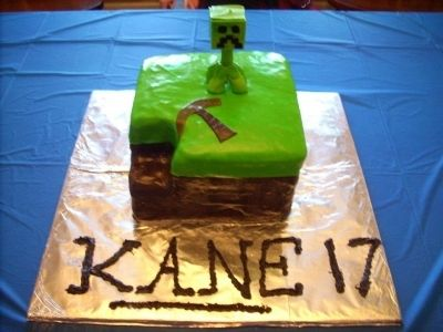 MineCraft Cake By pcb77 on CakeCentral.com