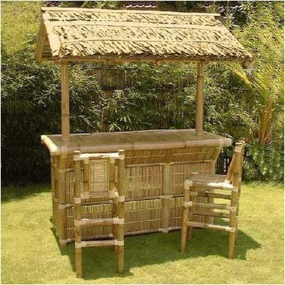 Tiki bar for rent, Tiki bar and stools for your tiki party