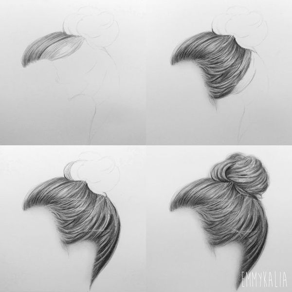 How To Draw Hair (Step By Step Image Guides) drawing Drawings