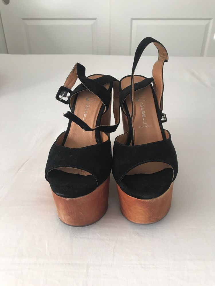 a9ebea0f0c Jeffrey Campbell platform sandals (6.5) - Black and Wood #fashion #clothing  #shoes #accessories #womensshoes #sandals (ebay link)
