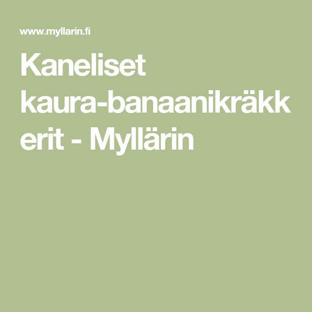 Kaneliset kaura-banaanikräkkerit - Myllärin