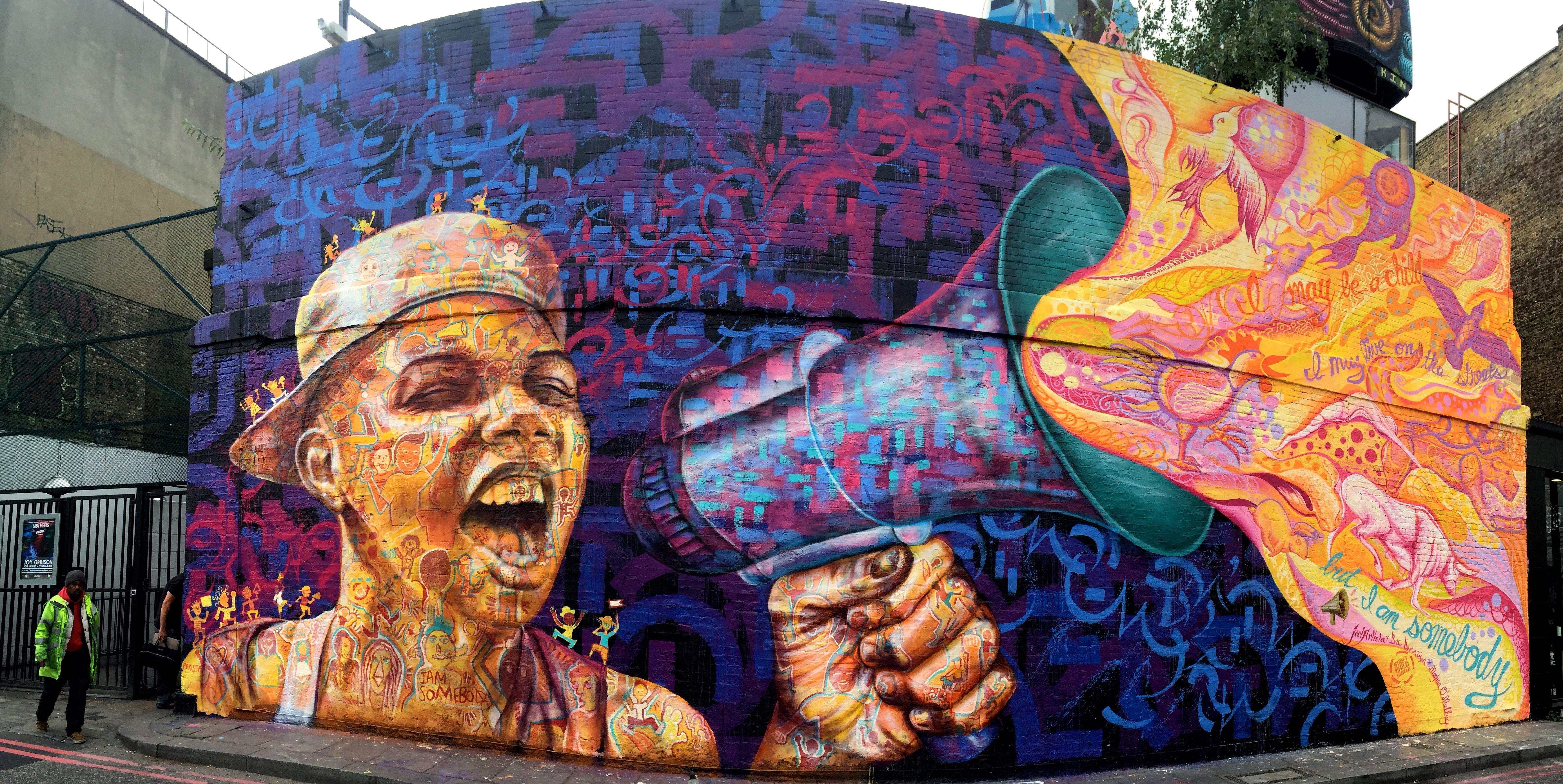 Joel artista joel artista nomadic artist educator for Construction mural