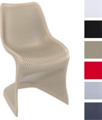 Design Kunststoff-Stuhl BLOOM, stabiler Gartenstuhl, Küchenstuhl ...