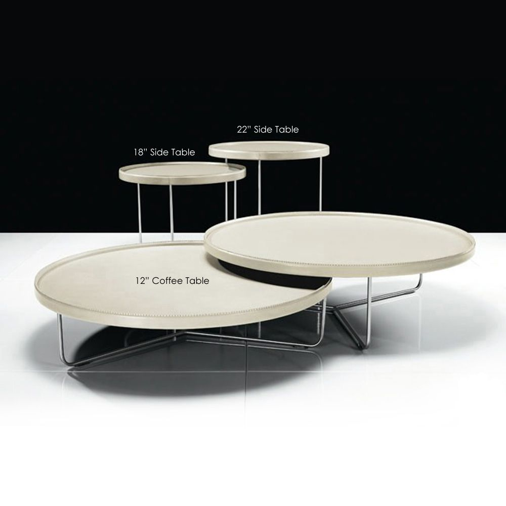 Adelphi Nested Side Table Set Contemporary Coffee Table Coffee