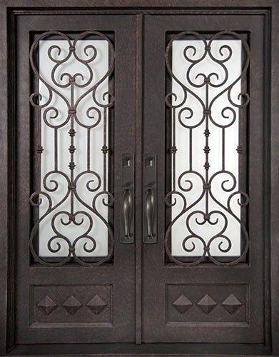 62x98 Victorian Iron Double Door Beautiful Wrought Iron Front