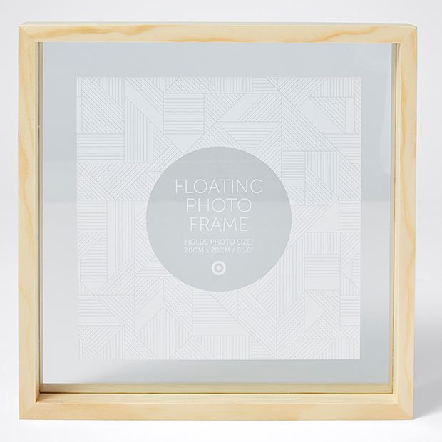Floating picture frames target frameswall natural timber floating photo frame x target australia gumiabroncs Gallery