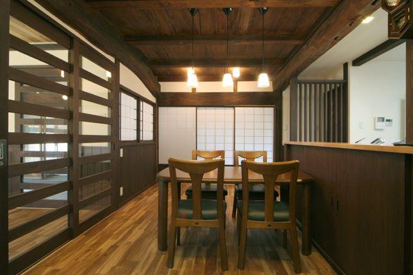 和風 台所実例 名古屋 一宮で和風住宅 古民家再生の設計事務所