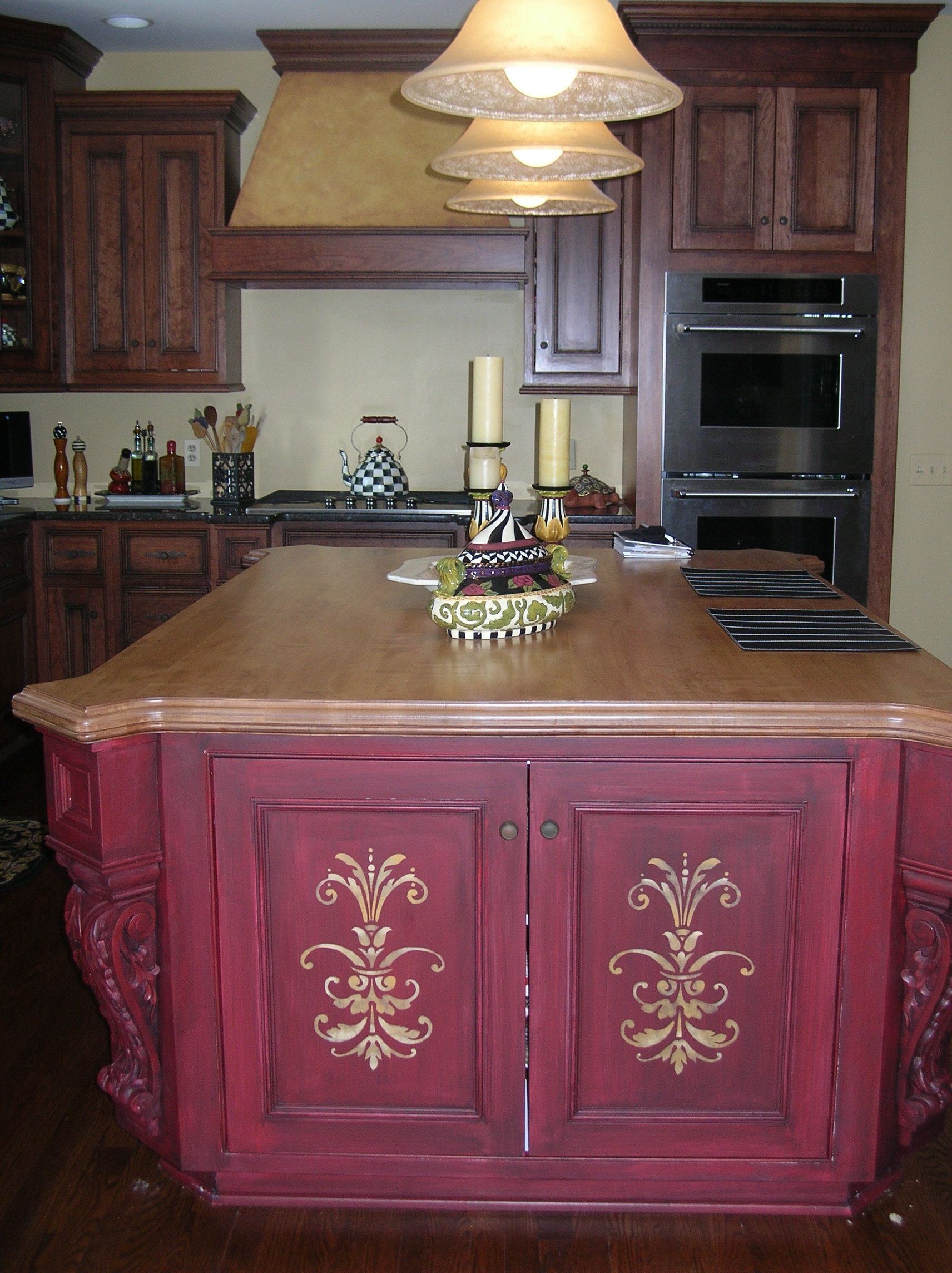 Masters Kitchen Base Cabinets The Custom Kitchen Island In This Large Kitchen Needed To