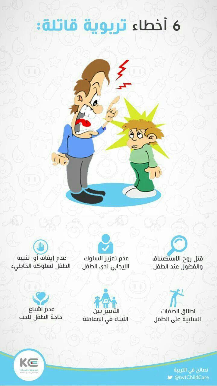 اخطاء تربوية ٢ للاستدراك Discipline Kids Teaching Kids Baby Education