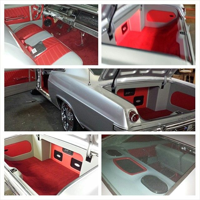 silver and red 65 impala paint wheels custom trunk custom interior 1965 grey car audio custom. Black Bedroom Furniture Sets. Home Design Ideas