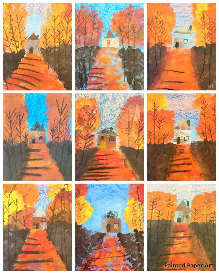 Photo of Kunstunterricht Fall Van-Gogh art project for kids