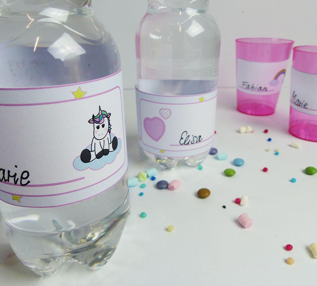 Traumhafte Einhorn Flaschenetiketten & Becherschilder ...