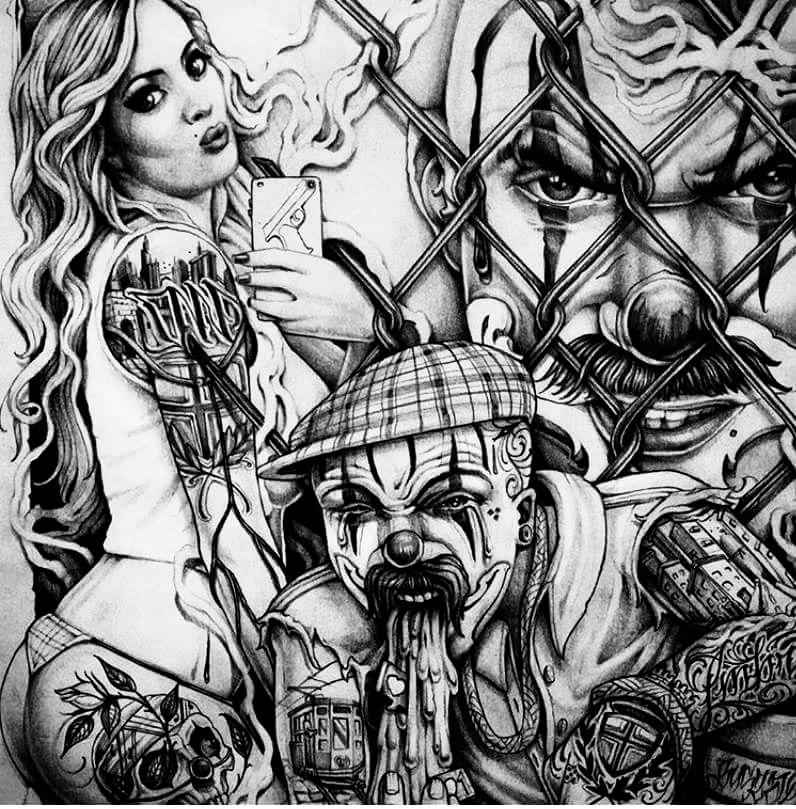 Tatouage Gangster Dessin