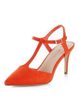 Orange, Suédine Arrondi Escarpins Plate-forme De Peep Toe