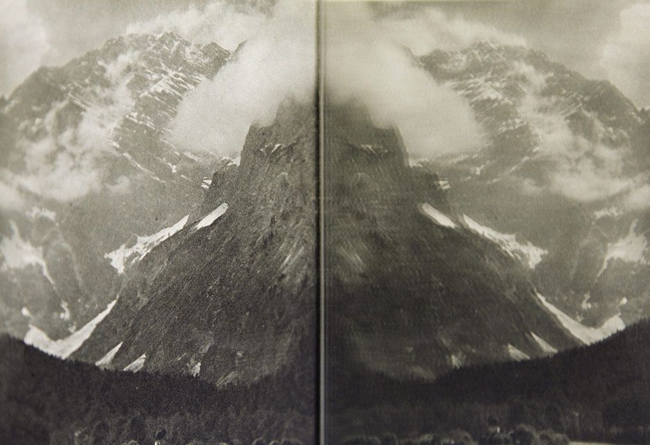 Two Mountains, 2013 chromogenic colour print wooden frame, glass 33 x 46,5 cm (with the frame)  edition of 5