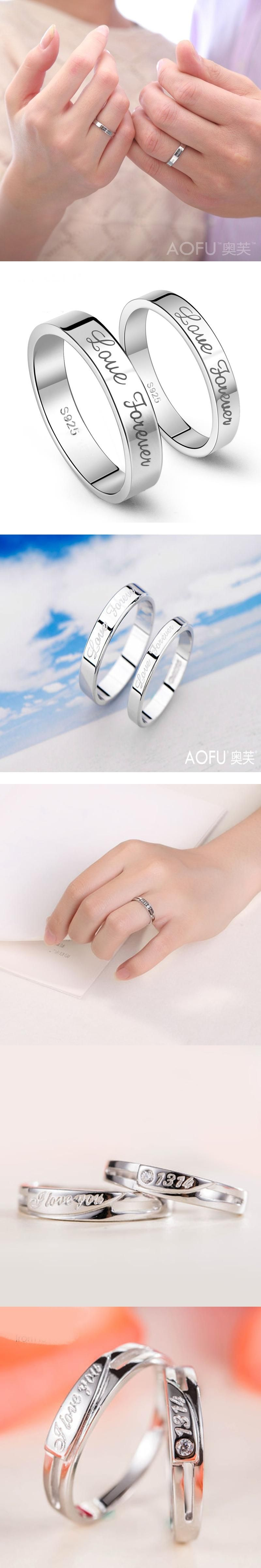 Wholesale White Gold Stamp Love Forever 1314 Two Style Resizable