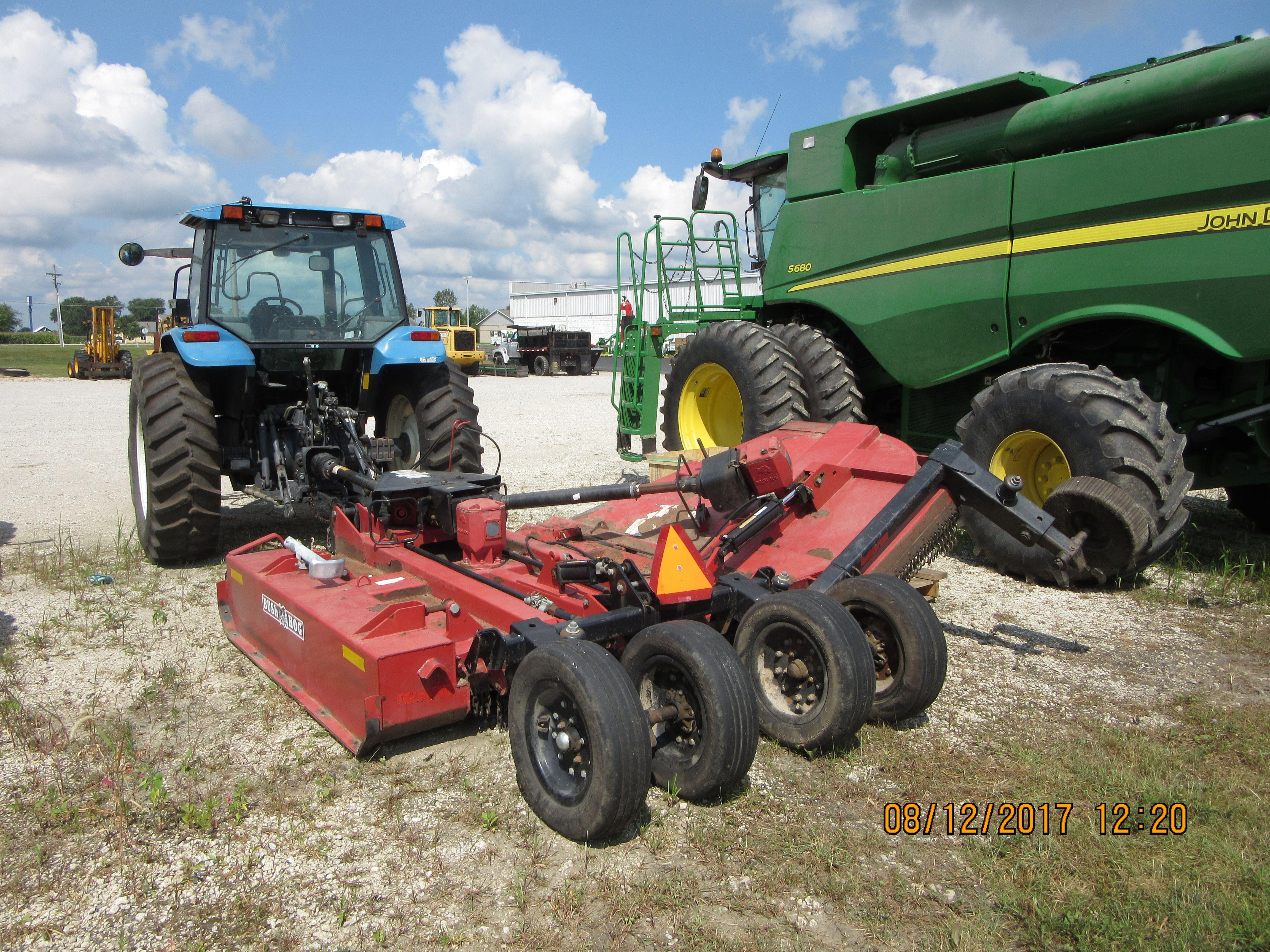 New Holland Ts100 Pulling A Bush Hog Mower Tg Tractor Frankfort
