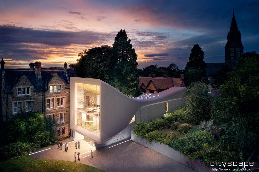 C'est dans le trs traditionnel campus d'Oxford que Zaha Hadid a bti