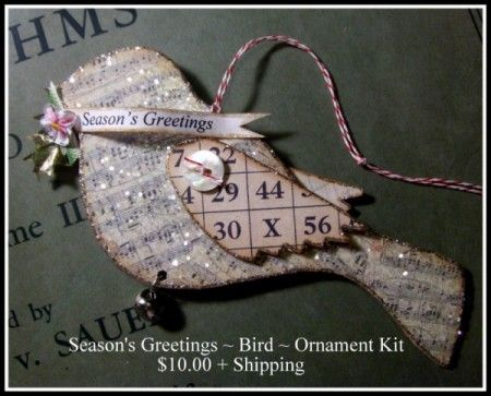 Another LIsa Pace beauty!!! Season's Greetings ~ Bird ~ Ornament Kit