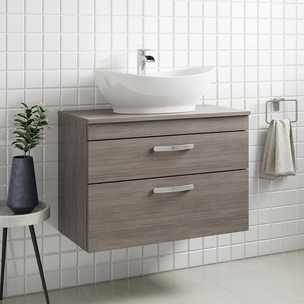 Best Drench Emily 800Mm Wall Mounted 2 Drawer Vanity Unit And 400 x 300