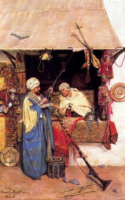 José Villegas Cordero, Le Bazar de Tunis, 1881.