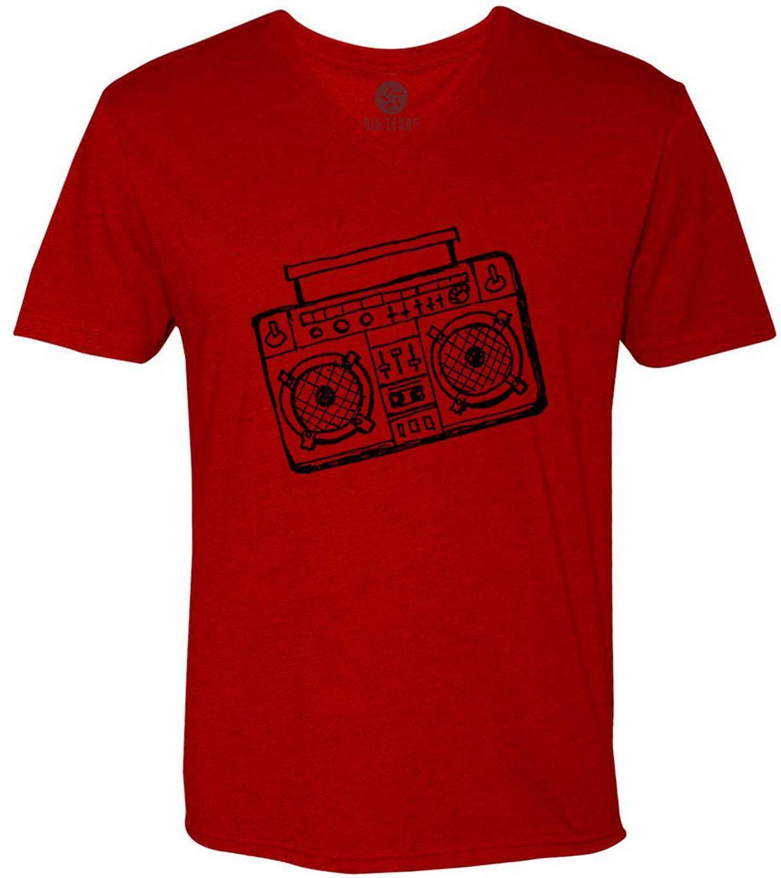 Boom Box Drawing (Black) Short-Sleeve V-Neck T-Shirt