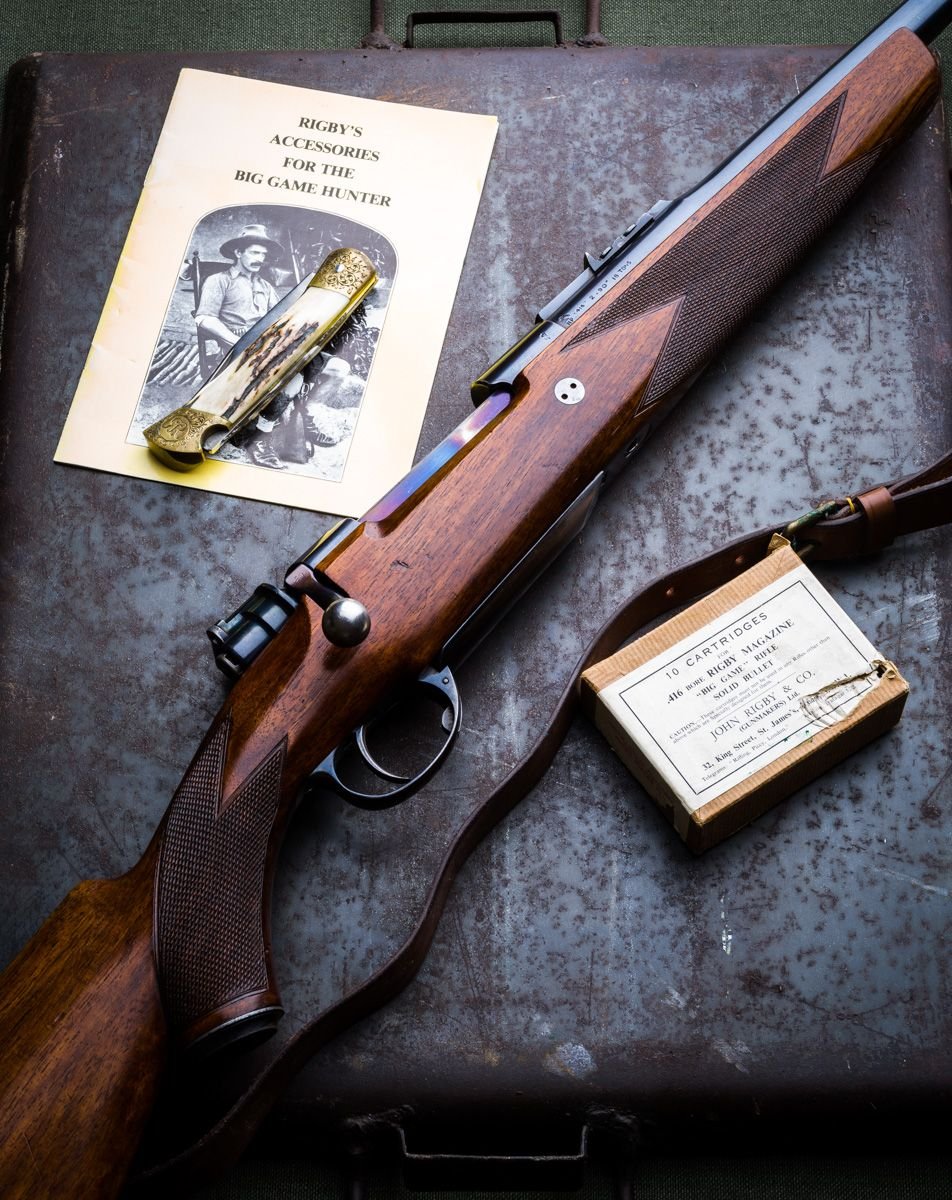 Dangerous Game Bolt Action Rifle Poster 11 x 17 Rigby .416 Mauser