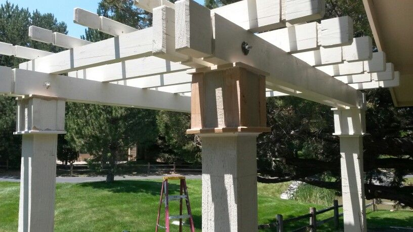 Almost finished. jobs Outdoor structures, Outdoor, Pergola
