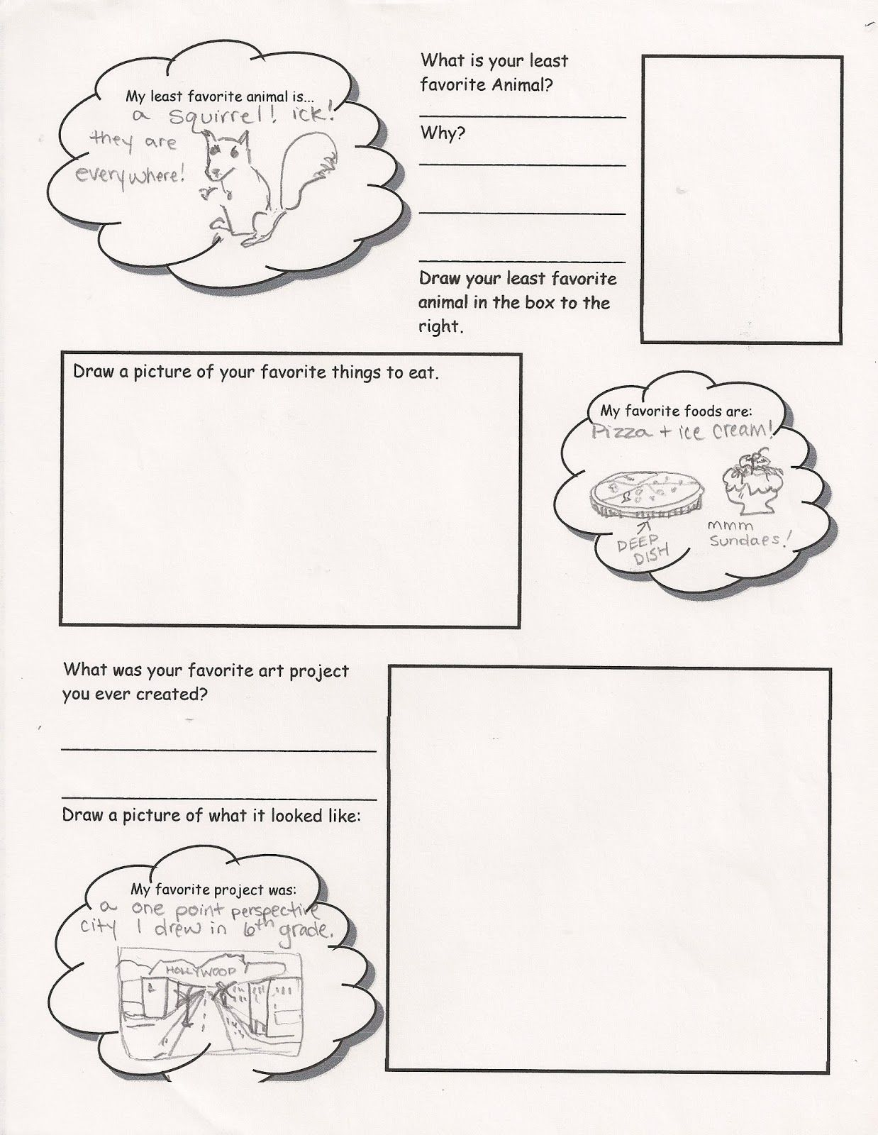 Art Me Get To Know Your Students While They Get To Know You Worksheet Getting To Know You Pictures To Draw Art