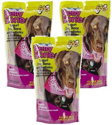 3 Pack Fido Belly Dog Bone Digestion Aid W Prebiotic And