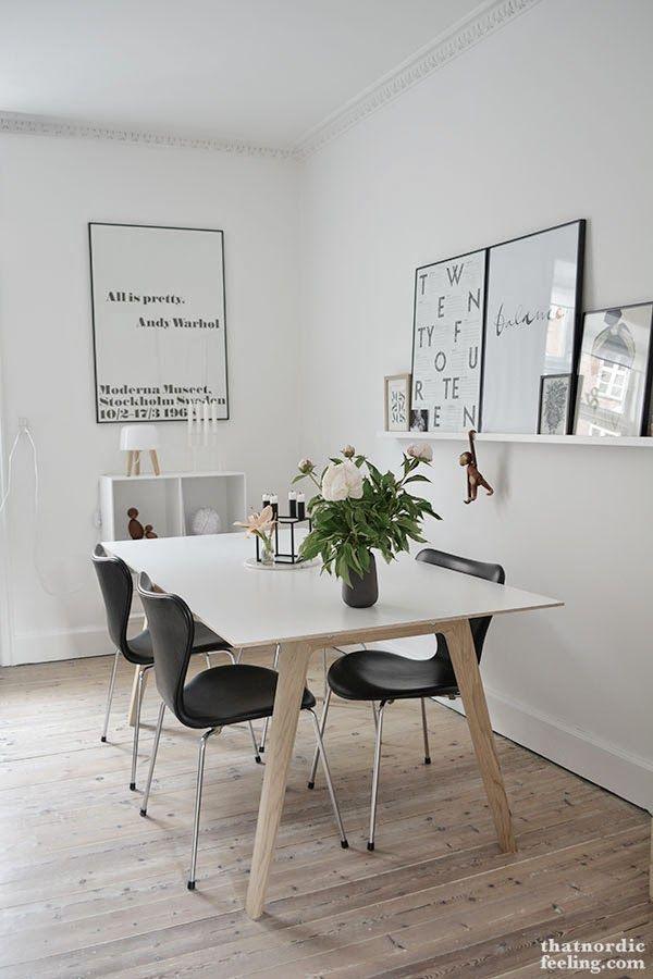 Como hacerte un comedor pequeño, práctico y muy nórdico | decorar ...