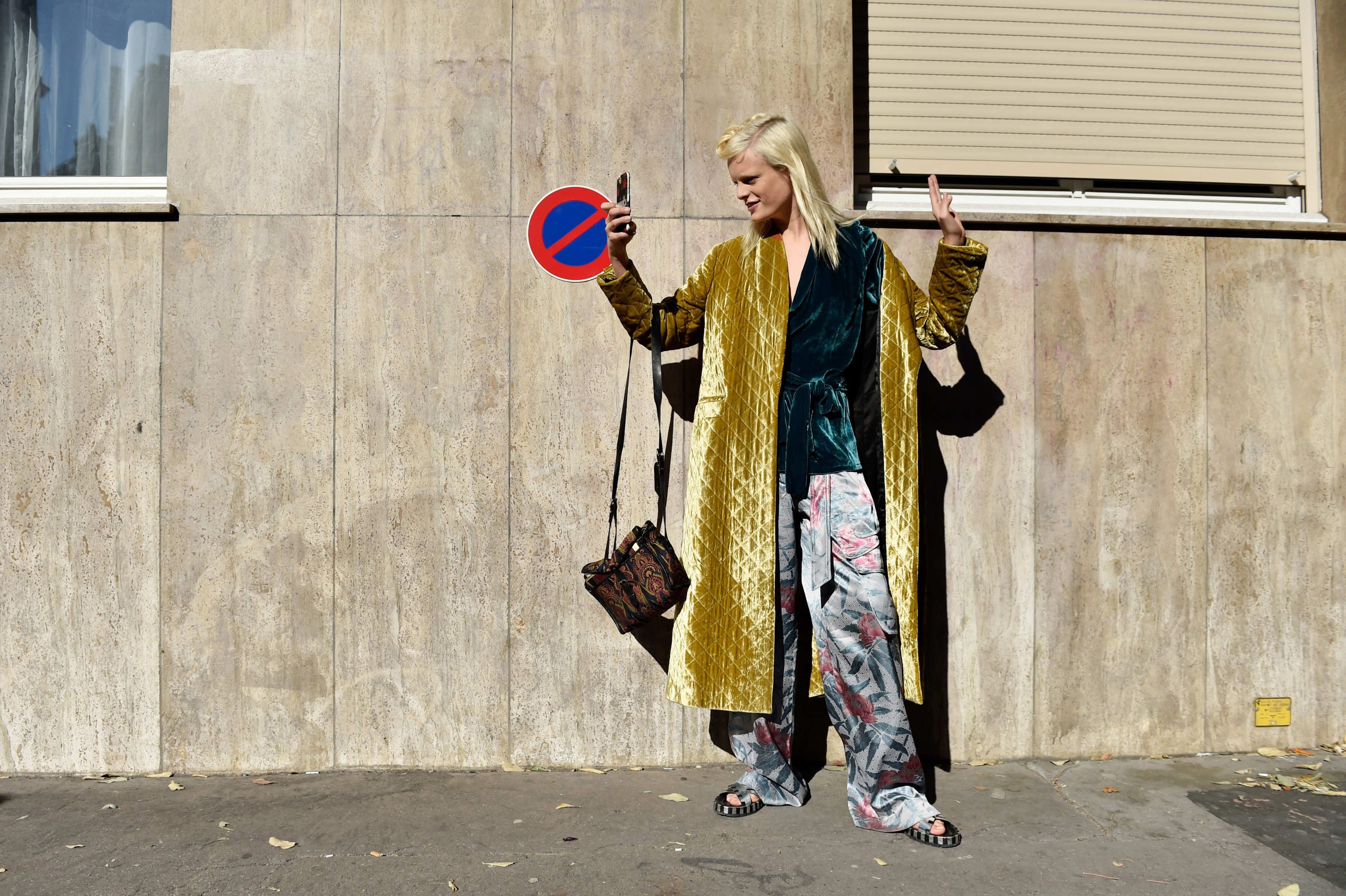 Hanne Gaby Odiele's Paris Fashion Week street style