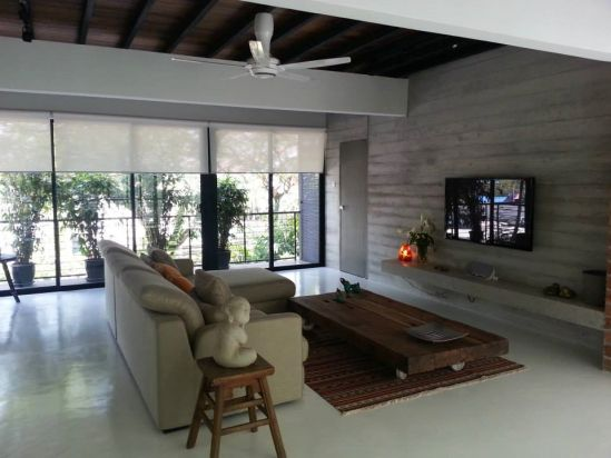 Renovated Terrace House Malaysia Cozy And Comfortable Living Room Design  For Terrace House
