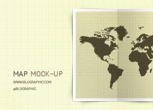 Map Mock Up Psd Graphic Design Freebies Design Mockup Free Design Freebie