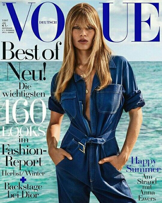Anna Ewers by Giampaolo Sgura for Vogue Germany June 2017