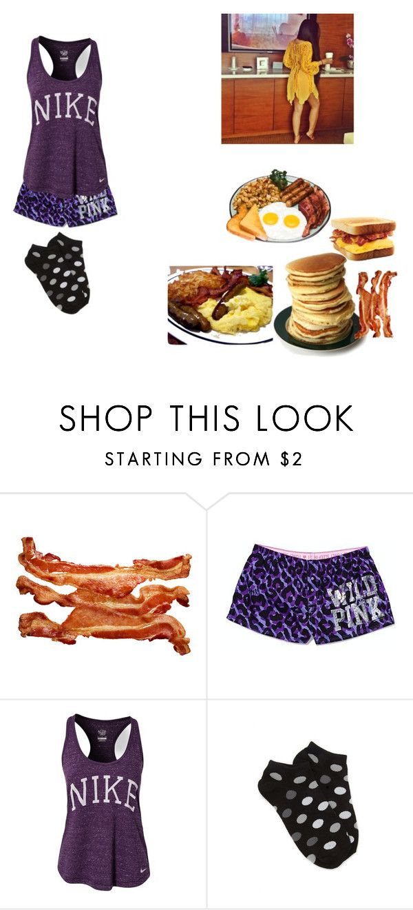 """""""Good Morning"""" by mrsari ❤ liked on Polyvore featuring Victoria's Secret, NIKE and Forever 21"""