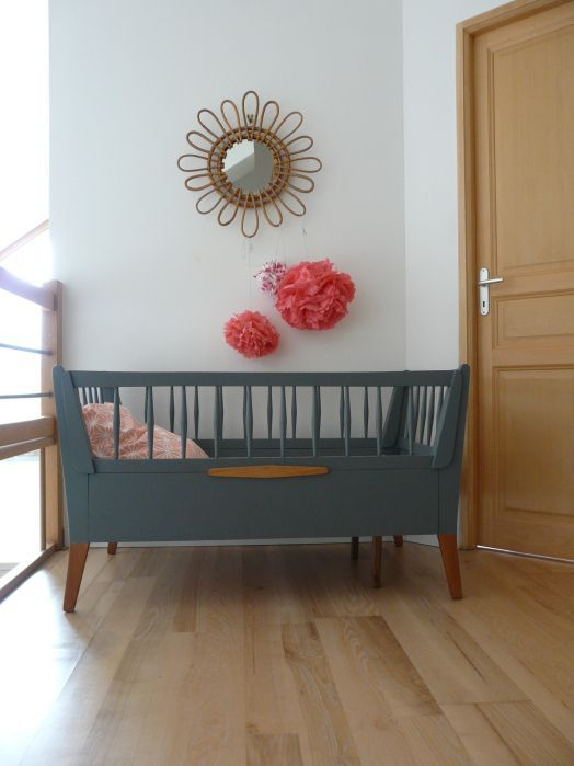 Lit Bebe Vintage Escamottable 1 Interiordesign Ohbaby Pinterest