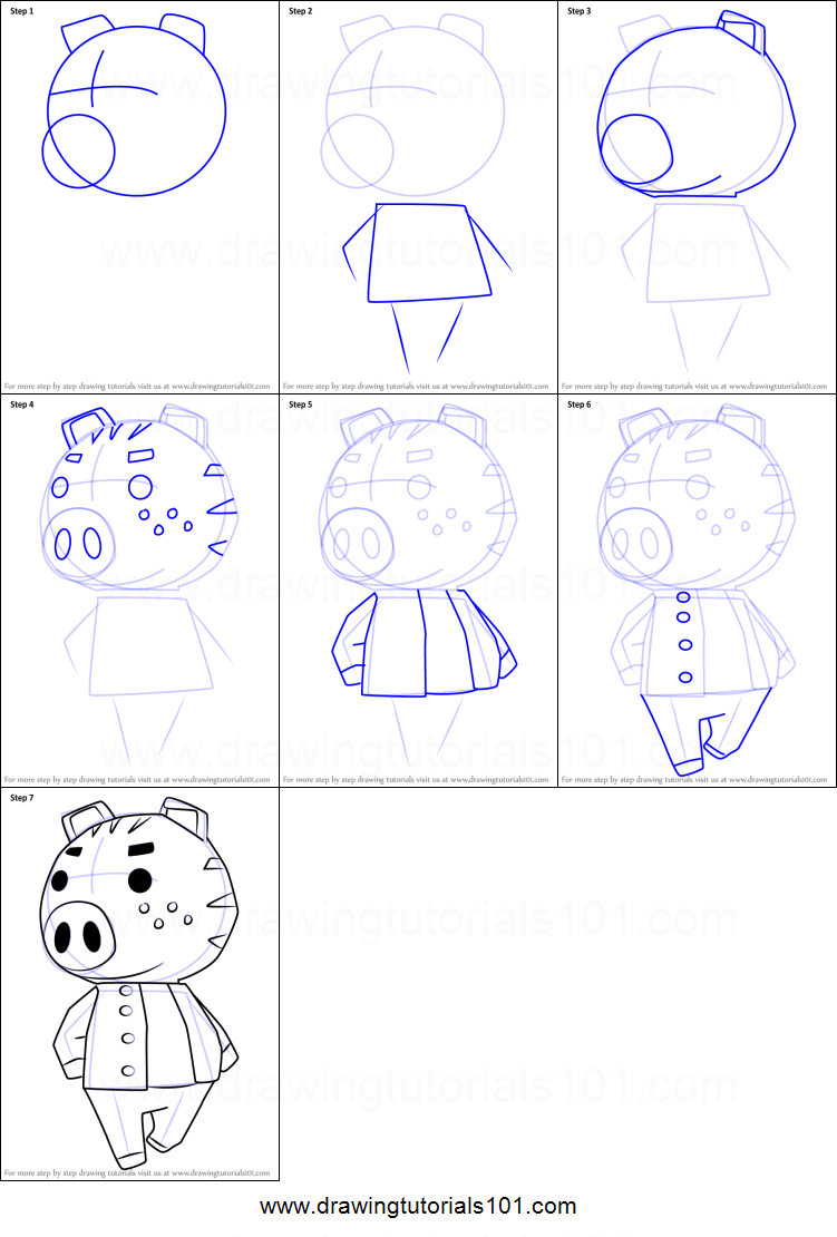 How To Draw Kevin From Animal Crossing Printable Drawing Sheet By