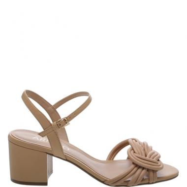 Sandália Couro Nó Soft Sand | Arezzo | Couro, Sandalia e Sapatos